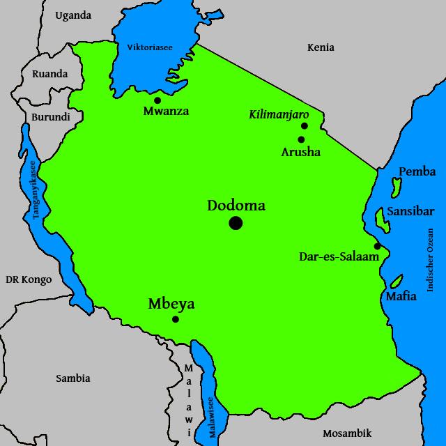 Landkarte-Tansania